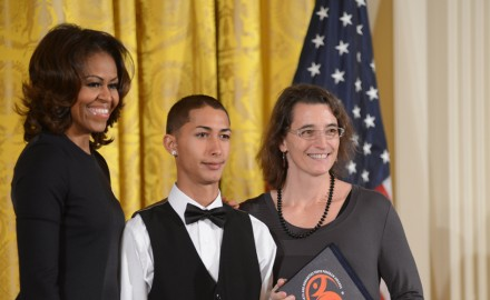 CEPA receives the 2013 NAHYP Award from First Lady Michelle Obama at the White House.