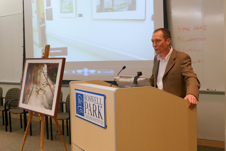 CEPA Gallery - Sean Donaher at the 2013 Oseroff Memorial Purchase Prize presentation ceremony