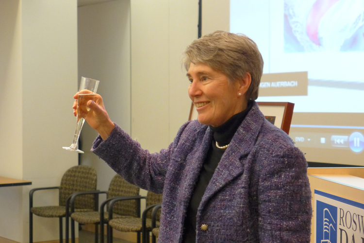 Dr. Stephanie Pincus at the 2013 Oseroff Memorial Purchase Prize presentation ceremony