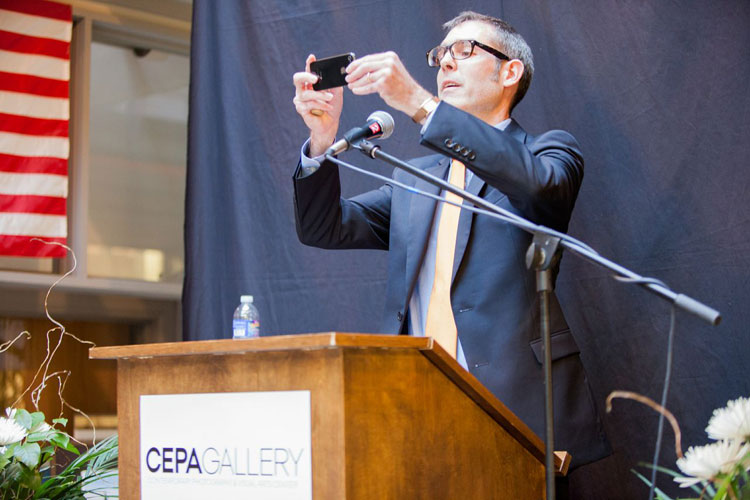 CEPA Gallery 2014 Biennial Art Auction Auctioneer Christopher Mahoney, Sotheby's