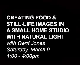 Creating Food and Still Life Images in a Small Home Studio with Natural Light